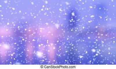 turbulent snowfall slowmotion loop - turbulent snowfall...