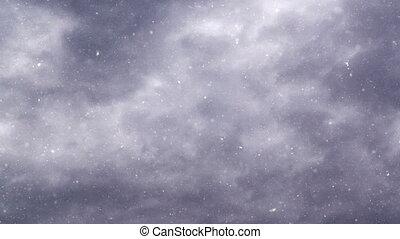Turbulent snowfall