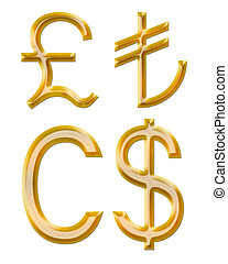 turc, currencies:, dollar canadien, signes, livre, lire