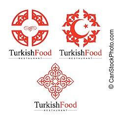 turc, logo, conception