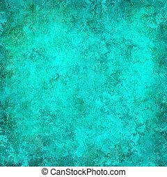turchese, grunge, astratto, fondo, textured