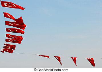 turco, banderas