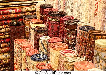 turco, bazaar grande, tapetes