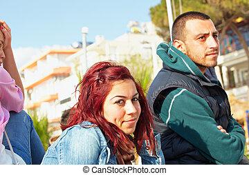 turco, coppia, kusadasi