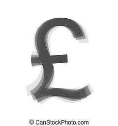 turecký, lira, podpis., vector., šedivý, ikona, shaked, v, neposkvrněný, grafické pozadí.