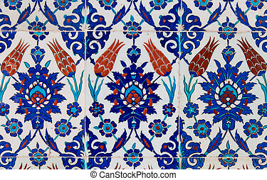 turecki, błękitny, dachówka