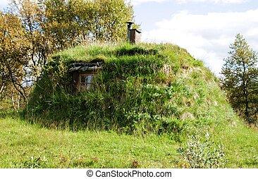 Turf hut