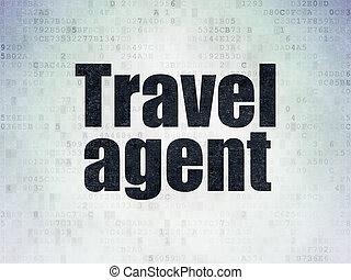 turismo, agente de viajes, papel, plano de fondo, digital, ...