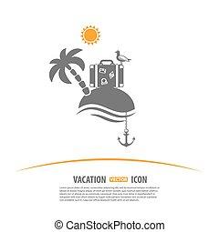 turismo, e, vacanza, logotipo