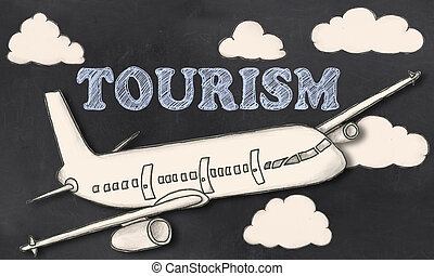 turismo, en, pizarra