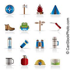 turismo, feriado, iconos