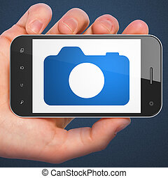 turismo, foto,  smartphone, cámara,  concept:
