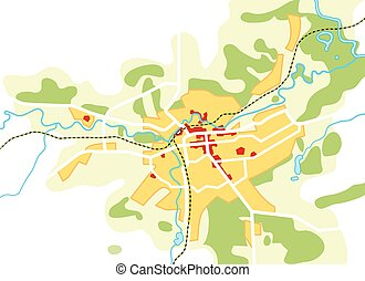 turist, guide, urban, city., väg, chart., navigation, geografisk, lokalisering, karta