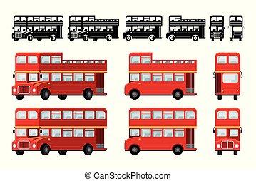 turista, decker doppio, attrazione, londra, autobus