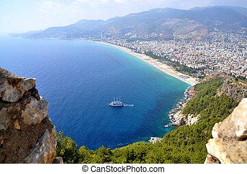Turkey. Alanya. Cleopatra's beach - Alanya. Turkey. View of...