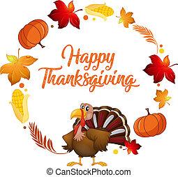Turkey and autumn element