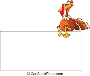 turkey and blank - illustration of a turkey and blank