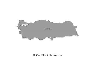 Turkey animated map with alpha channel. - Stylish and modern...