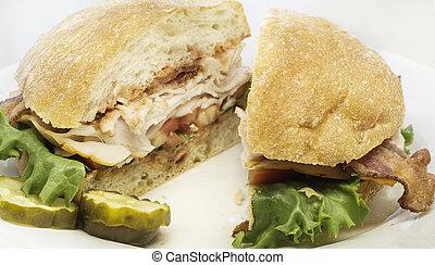 Turkey bacon BLT sandwhich