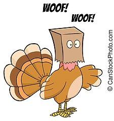 Turkey Bird Cartoon Character