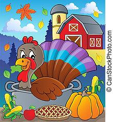 Turkey bird in pan theme image 2