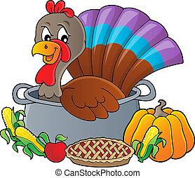 Turkey bird in pan theme image 3