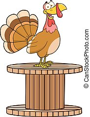 Turkey Bird On A Giant Spool
