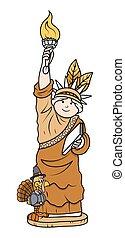 Turkey Bird with Statue of Liberty