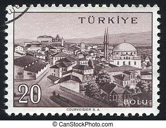 Bolu - TURKEY - CIRCA 1959: stamp printed by Turkey, shows ...