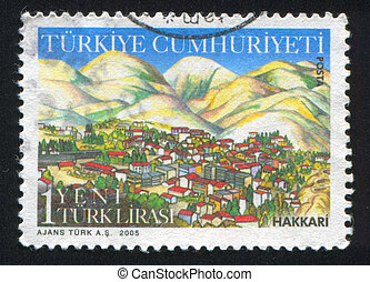 province Hakkari - TURKEY - CIRCA 2005: stamp printed by...