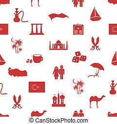turkey country theme symbols seamless pattern eps10