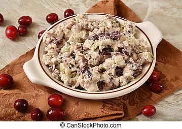 Turkey Cranberry Apple Salad