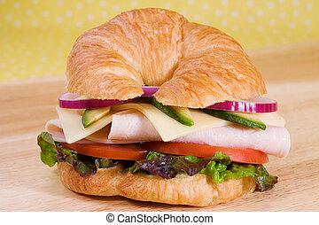 Turkey Croissant Sandwich - Turkey sandwich on a croissant...