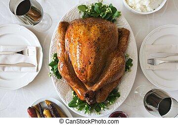 Turkey dinner setting