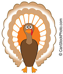 Turkey - vector turkey for thanksgiving day
