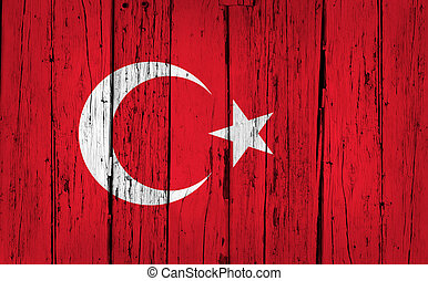 Turkey Flag Grunge Background