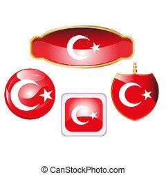 Turkey flag icons
