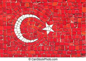Turkey Flag in Mosaic