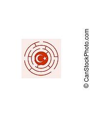 Turkey flag in the labyrinth