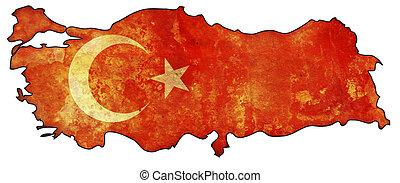 turkey flag on territory
