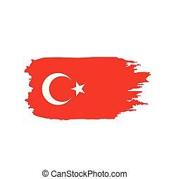 Turkey flag, vector illustration