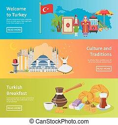 Turkey Flat Horizontal Banners