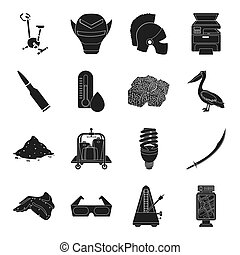 Turkey, food, sports, advertising, drug and other web icon in black style. weather, theater, cinema icons in set collection.