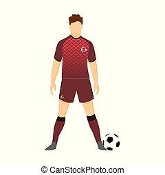 Turkey Football Uniform National Team Illustration