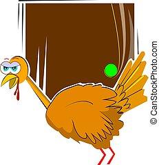 turkey fowl - Illustration of a cartoon turkey fowl