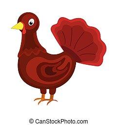 Turkey icon. Cartoon style. Vector Illustration for Thanksgiving Day