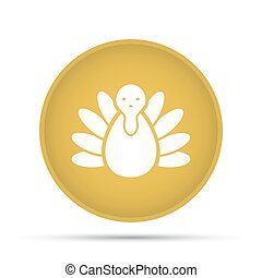 Turkey icon on a circle on a white background. Vector illustration