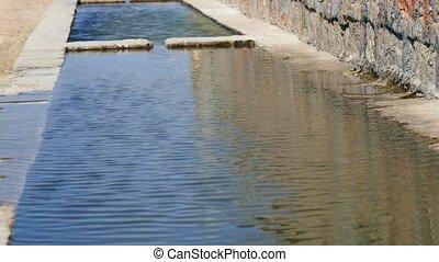 turkey in Anatolia a fountain, a corrugated spring,