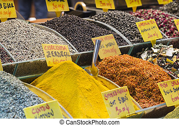Turkey, Istanbul, Spice Bazaar, turkish spices for sale