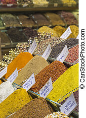 Turkey, Istanbul, Spice Bazaar, turkish spices for sale